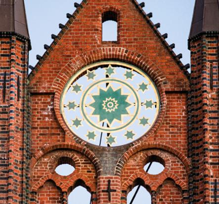 Detail der Schaufassade Rathaus Stralsund